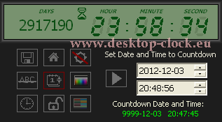 set date and time panel digital  timer